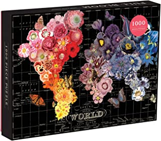 Galison Full Bloom World Map Puzzle