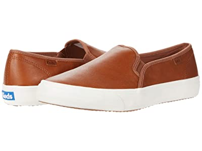 Keds Double Decker Leather (Cognac 1) Women