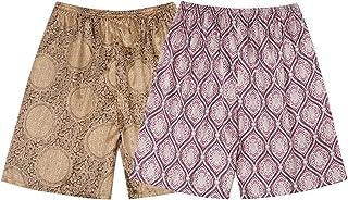 Mens 2-Piece Pyjama Bottom Printing Home Sleepwear Shorts Pyjama Underwear Shorts Nightwear Elastic Waistband Pants