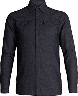 Icebreaker Lodge LS Flannel Shirt Men black heather 2020 Longsleeve Shirt