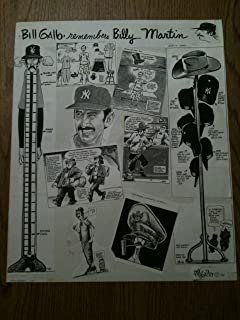 Bill Gallo ORIGINAL Collage Plate Signed Billy Martin NY New York Yankees RARE