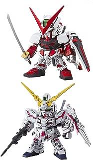 2 Bandai SD EX-Standard Gundam Assembly Models – RX-0 Unicorn (Destroy Mode) & Astray Red Frame (Japan Import)