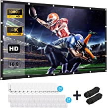 Projection Screen, Keenstone 120 inch 16:9 HD Foldable Anti-Crease Portable Projector Movies Screen for Home Backyard Theater Outdoor Indoor Support Double Sided Projection,High Contrast,Anti-Crease