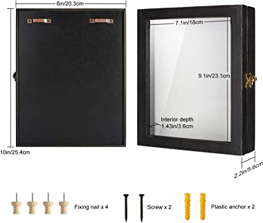 TJ.MOREE Shadow Box for Flowers 8 x 10 Shadowbox Display Case Picture Frame with Glass Window Door Wedding Bouquet Memorabili