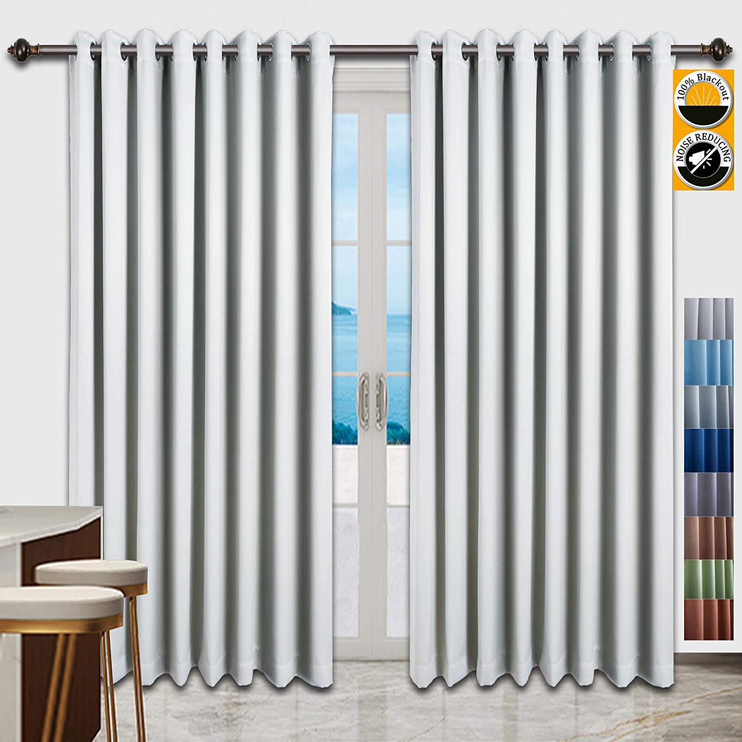 100% Blackout 大特価!! Curtains for Bedroom Living 40%OFFの激安セール Room Cu Doors Terrace