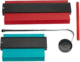 "Contour Profile Gauge – ABS Plastic Contour Gauge Set – 5"" and 10"" Contour Gauge Tools with Pencil and 60"" Tape Measure – Precise Measuring Profile Gauge – Profile Gauge for Easy Shape Replication"