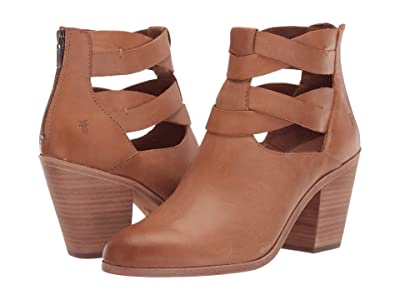 Frye Cameron Twist Bootie (Tan Polished Soft Full Grain) Women