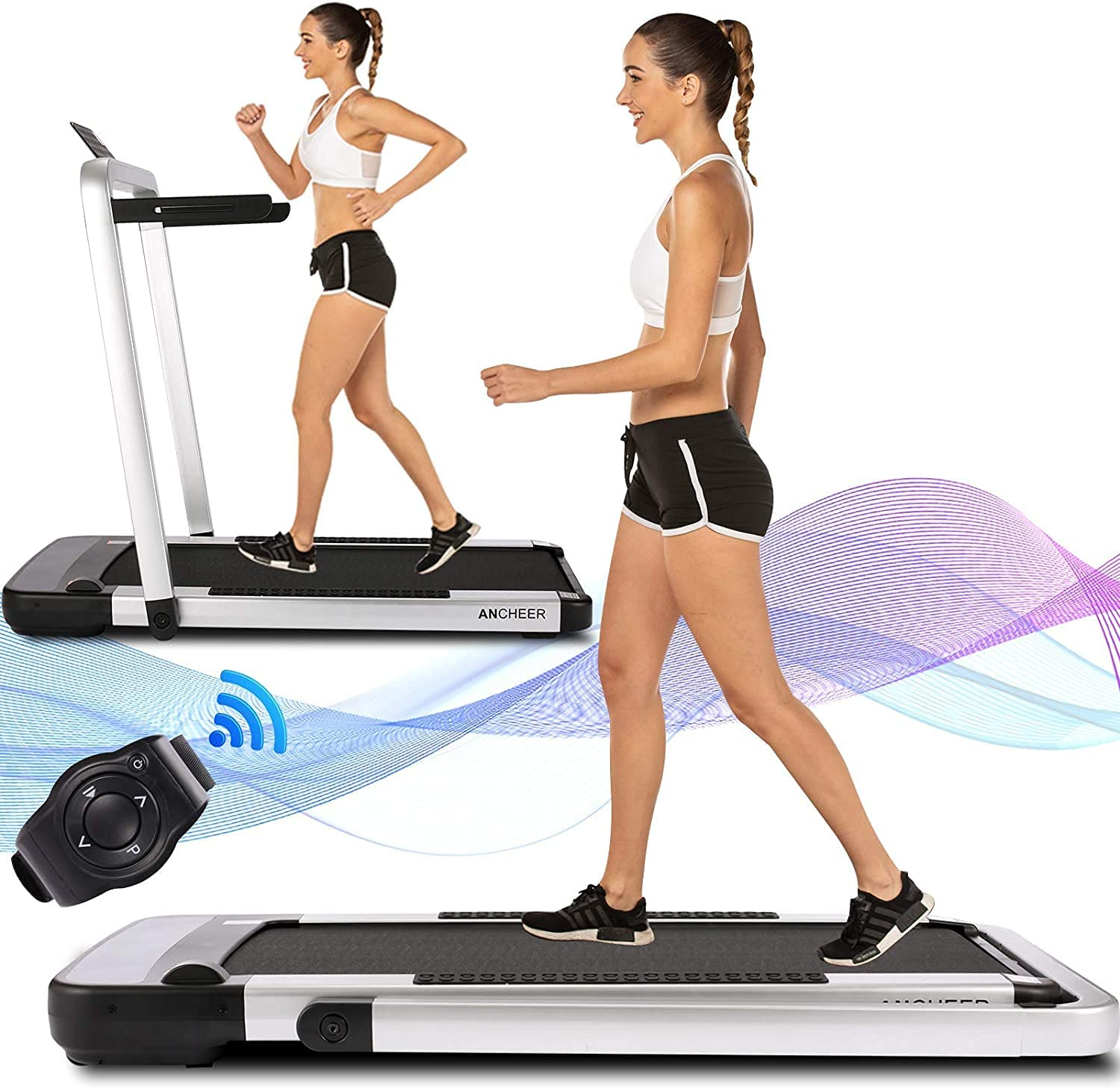 ANCHEER 2 in 1 Folding Boston Mall Treadmill Quality inspection Desk 2.25HP Electric Under Tre