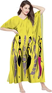 RADANYA Women Cotton Kaftan Traditional African Dashiki Caftans