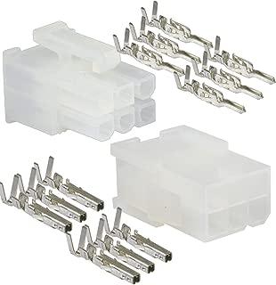 Molex 6 Circuit Wire Connector - 5 Complete conn. w/Pins Mini-Fit Jr