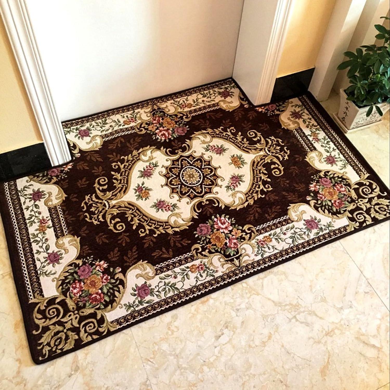 European Style,Indoor Mats Non-slip Mat The Door, Door Car Mats Living Room,Lobby Floor Mats Foot Mats-N 100x100cm(39x39inch)