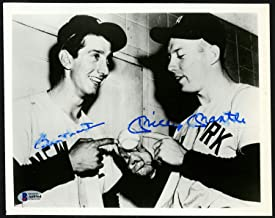 Mickey Mantle & Billy Martin Autographed 8x10 Photo New York Yankees Beckett BAS #A60564