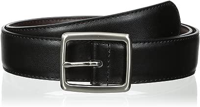 Florsheim Men's 32 mm Reversible Center Bar Buckle Belt