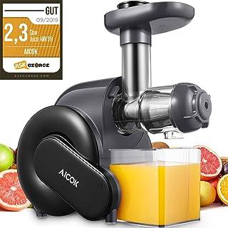 comprar comparacion Licuadora Prensado en Frio, Aicok Licuadoras Para Verduras y Frutas con Función inversa, con Motor Silencioso, Limpieza Fá...