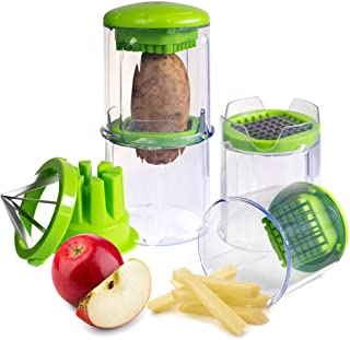 EZFries 2.0 X3001 French Fry Vegetable Cutter Virtually Unbreakable with Super Sharp Stainless Steel Blades, Crisp Perfect...