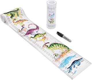 TALLTAPE - Portable, Roll-up Height Chart Plus 1 Sharpie Marker Pen to Measure Children from Birth, Choice of 10 Designs, a Memento for Life (Talltape, Dinosaurs)