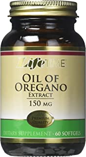 LIFETIME Oil of Oregano Extract, Softgel (Btl-Glass) 150mg | 60ct