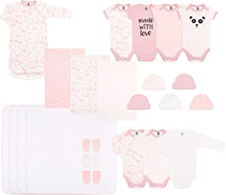 73ebb2e0f93 The Peanutshell 23 Piece Layette Gift Set in Pink for Newborn Baby Girls