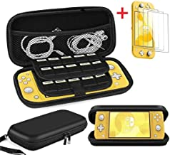Cmore for Nintendo Switch Lite Case/Accessories with [3 Packs] Screen protectors/20 Game Card Holders/Storage, Ultra Slim ...