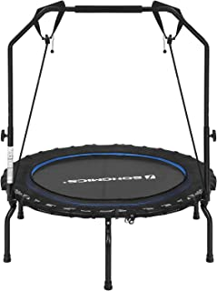 SONGMICS Mini Trampoline for Adults Folding Exercise Fitness Rebounder with Handle 40-Inch USTR40BUV1
