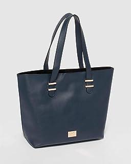 Navy Rosalie Tote Bag