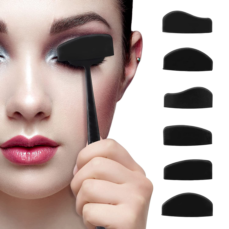 6 in 1 Crease Line Kit, Eyeshadow Stamp Kit Eye Shadow Applicator Silicone Eyeshadow Stamp Crease Tools for Women Girls Eyes Makeup : Beauty & Personal Care