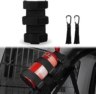 Fire Extinguisher Holder, AAIWA Adjustable Roll Bar Fire Extinguisher Mount Strap for Jeep Wrangler TJ JK JKU LJ CJ YJ, Can Hold one 3 pound Fire Extinguisher