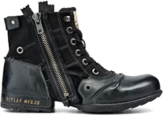 Replay Homme Clutch Black Motorcycle Boot GMU01 .001.C0003L.003 Nero (nero) 43 EU