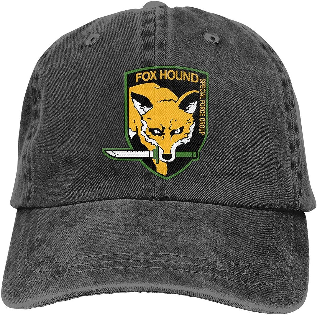 Metal Gear Solid Fox Hound Unisex Classic Comfortable Hat Adjustable Cycling Headgear