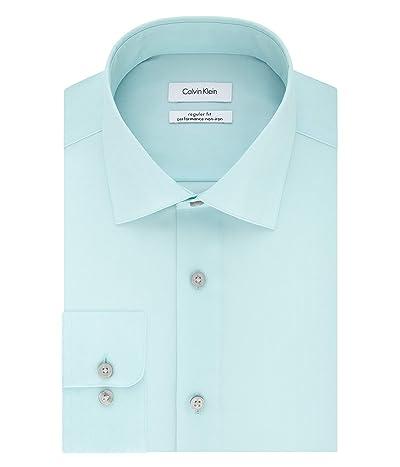Calvin Klein Regular Fit Non Iron Herringbone Spread Collar Dress Shirt