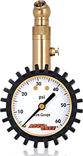 Accu-Gage RS60XA Professional Tire Pressure Gauge with Protective Rubber Guard (60 PSI)