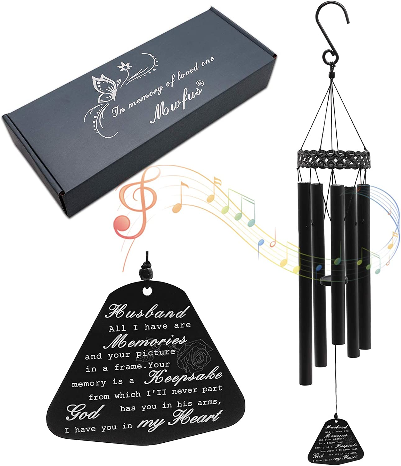 ZTL Memorial Wind Chimes for of Husband Luxury goods Genuine Free Shipping Gifts Loss Sympathy