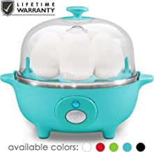 Maxi-Matic EGC-007T Easy Electric Egg Poacher, Omelet & Soft, Medium, Hard-Boiled Measuring Cup Included, 7 Capacity, Teal (Renewed)