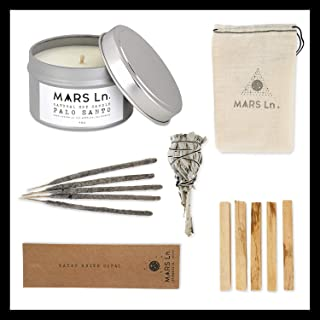 Q5 BRANDS Luxury Gift Set - Palo Santo Incense Sticks - Sage Smudge Stick - Palo Santo Natural Candle with Essential Oil - Copal Incense Sticks - Aromatherapy, Yoga, Cleansing, House Warming Gift