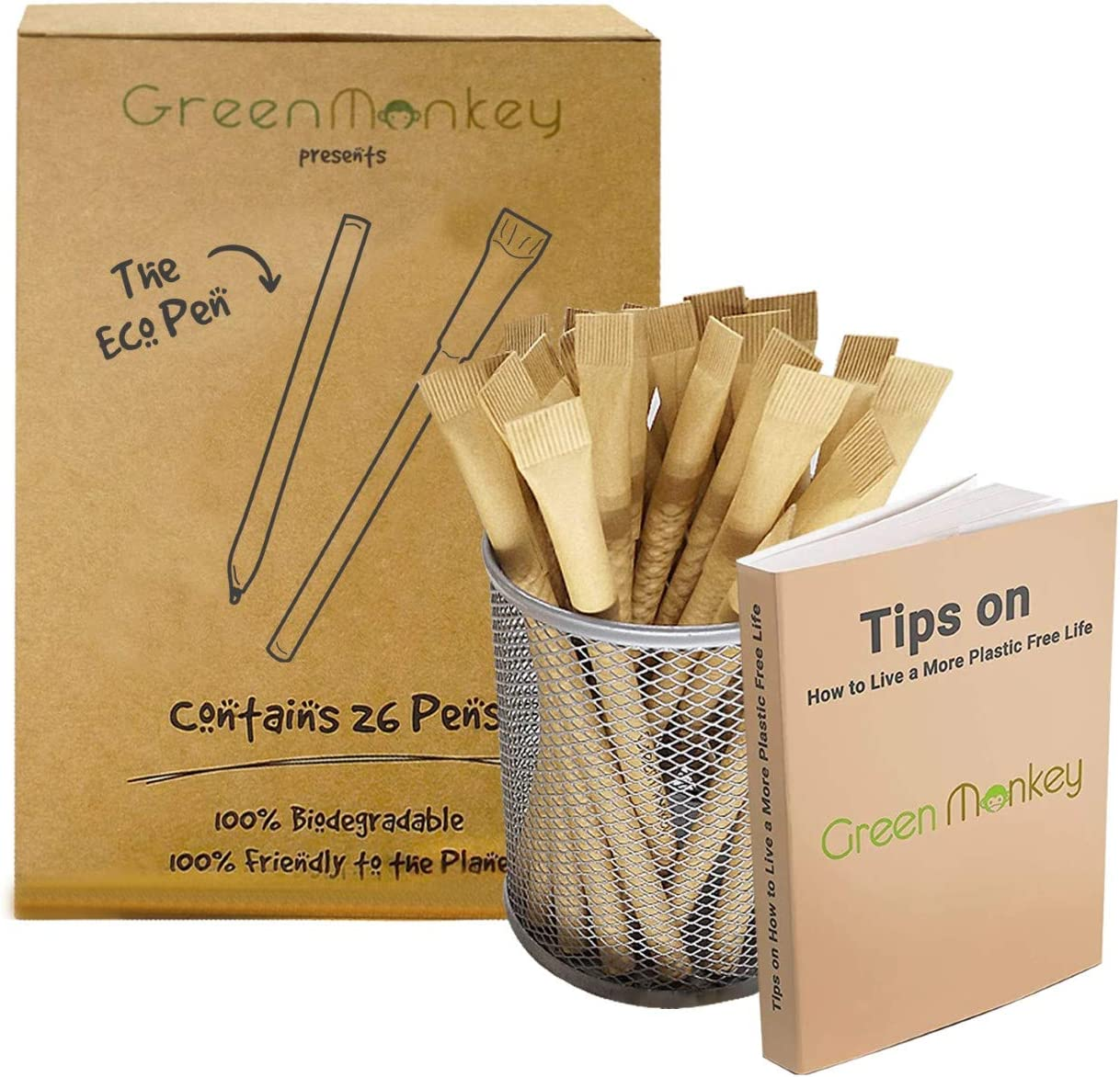 Eco Friendly Max 61% OFF Pens - 26 Max 58% OFF Pack Plastic Biodegradable Zero F Waste