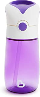 Munchkin Flip and Go Tritan Straw Cup, 12 Ounce, Purple