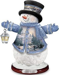 Thomas Kinkade Victorian Christmas Snowman Figurine by The Bradford Editions