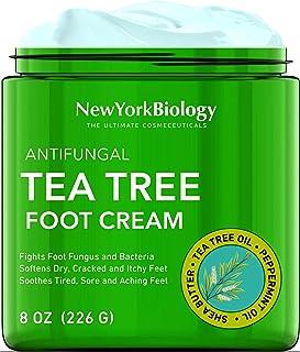 Tea Tree Oil Foot Cream for Dry Cracked Feet – Antifungal Foot Cream Helps Athletes Foot Fungus, Dry Cracked Skin, Nail Fu...