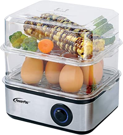 PowerPac Multi-Functional 2-Tier Steamer,2.5L, (PPS706)