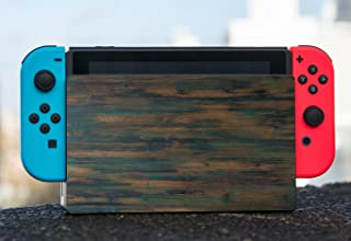 Wood Rustic with Vintage Paint Wooden Background Nintendo Switch Dock Vinyl Decal Sticker Skin by Moonlight Printing