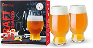 Spiegelau Craft Beer Wheat Beer Glasses, Set of 2, European-Made Lead-Free Crystal, Modern Beer Glasses, Dishwasher Safe, ...