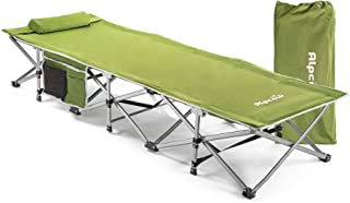 Alpcour Folding Camping Cot – Extra Strong Single Person Small-Collapsing Bed in a Bag w/Pillow for Indoor & Outdoor Use –...