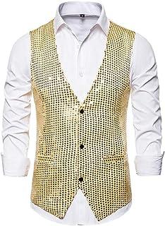 Waistcoat Men TUDUZ Fashion Suit Vest Slim Fit Business Wedding Performance Costume Sleeveless Tank Top Shirt