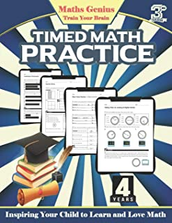 Maths Genius// Timed Math practice Grade 3: Inspiring Your Child to Learn and Love Math: Complete Math Workbook grade 3: D...