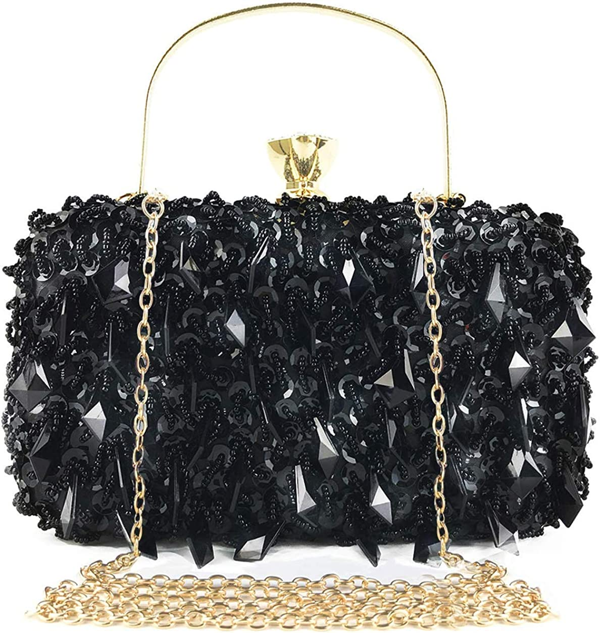 DA BODAN SEAL limited product Fashion Womens Beaded Clutch bag Our shop OFFers the best service Glitter Evening Sequin