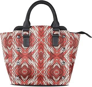 MONTOJ Special Painting Poinsettia Knitting Pattern handbags and purses Shoulder Bag