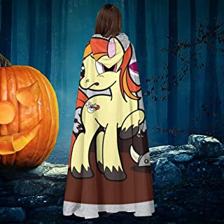 OJIPASD My Little Uni Dragon Slayer Unicorn Dungeons and Dragons Pony Unisex Navidad Halloween Bruja Caballero con Capucha Vampiros Capa Disfraz Cosplay