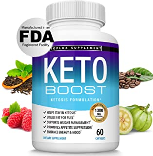 Keto Boost Diet Pills Ketosis Supplement - Natural Exogenous Keto Formula Support Energy & Focus, Advanced Ketones for Ket...