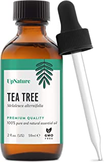Tea Tree Essential Oil 2 OZ – Pure Tea Tree Oil, Therapeutic Grade, Undiluted, Non-GMO – Hair Skin Body Care, Natural Face...