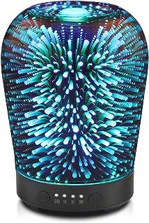 Porseme Essential Oil Diffuser, Aromatherapy Ultrasonic Cool Mist Humidifier, 3D Effect Glass, Auto Shut-Off, Timer Settin...